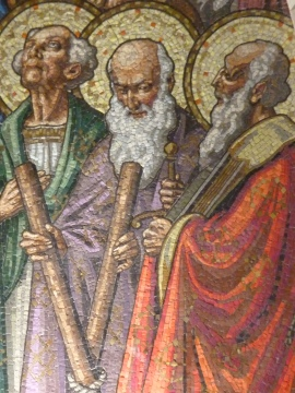 St. Andrew please pray for us! Holy Hill Basilica Mosaic above the Altar © SalveMaterDei.com, 2011. EA photographer