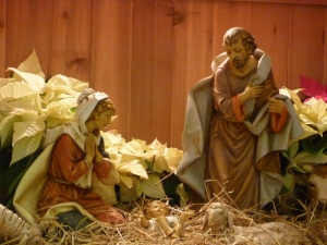 She wrapped Him in clothes and laid Him in a manger. . . .( Holy Hill Basilica)  © SalveMaterDei.com, 2011.