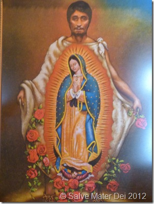 St. Juan Diego Pray for Us! © SalveMaterDei.com, 2012. Photo taken at Shrine of Our Lady of Guadalupe in La Crosse, WI