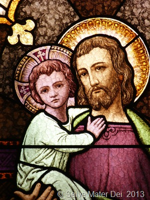 May St. Joseph Carry You and Yours in His Holy Heart as He Carried the Christ-Child in His Capable Arms © SalveMaterDei.com 2013