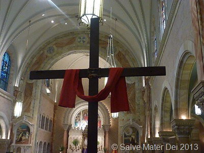 Like the Four Arms of the Cross, there are Four Challenges to Purity © SalveMaterDei.com, 2013. EA photo