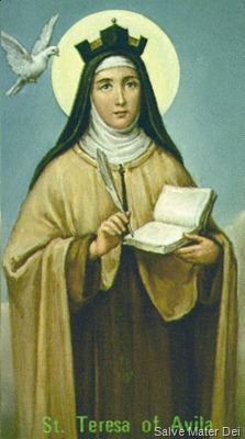 St. Teresa of Avila, The Holy Mother © SalveMaterDei.com 2013