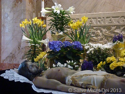 Though sinless, the Lord has been put to death. The world is in mourning as for an only son.  © SalveMaterDei.com, 2013