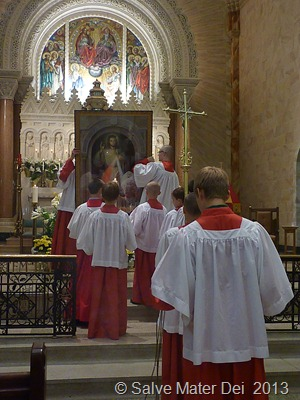 Celebration of the Feast Includes the Solemn Blessing of the Divne Mercy Image... © SalveMaterDei.com, 2013